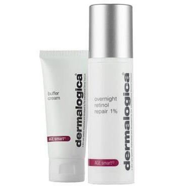 Dermalogica overnight retinol repair 1% buffer cream kabuki hair
