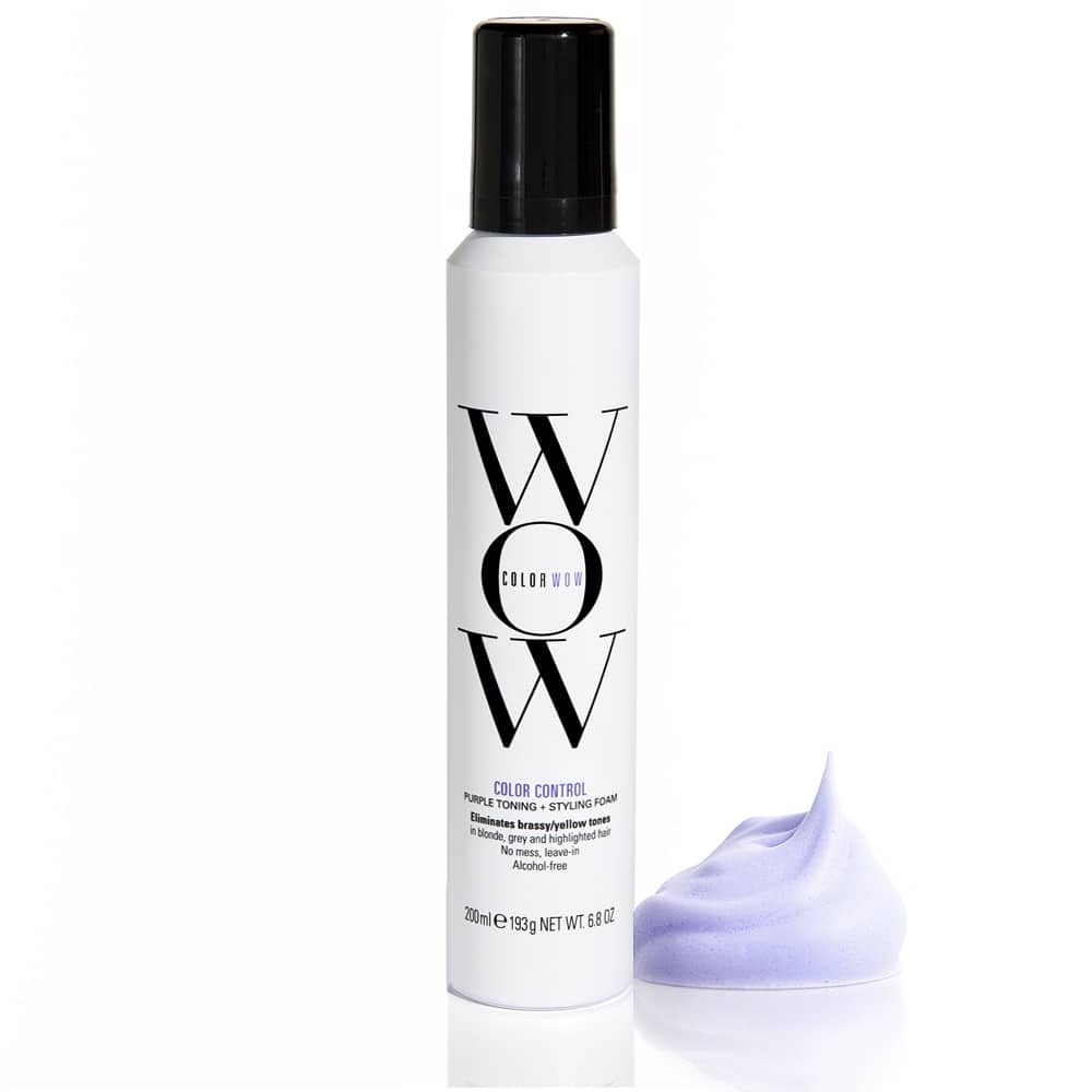 Color Wow Color Control Purple Toning & Styling Foam kabuki Hair